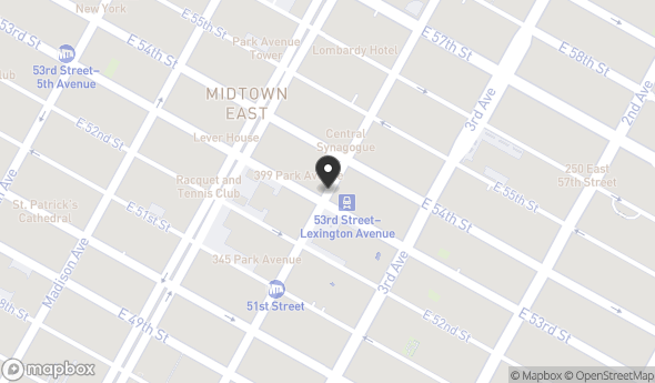 620 Lexington Avenue Map View