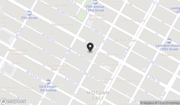 Location of  590 Madison Avenue: 590 Madison Avenue 21st Floor, New York, NY 10022