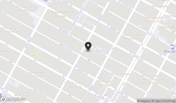 Location of 587 5th Ave, New York, NY 10017