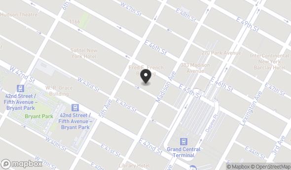 Location of 11 E 44th St, New York, NY 10017