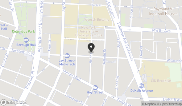 Location of 365 Bridge St, Brooklyn, NY 11201