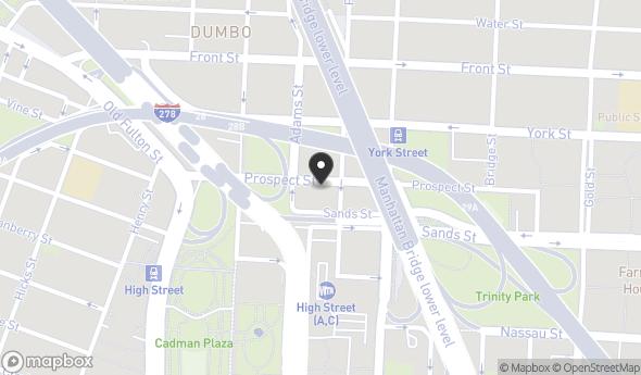 Location of 117 Adams St, Brooklyn, NY 11201