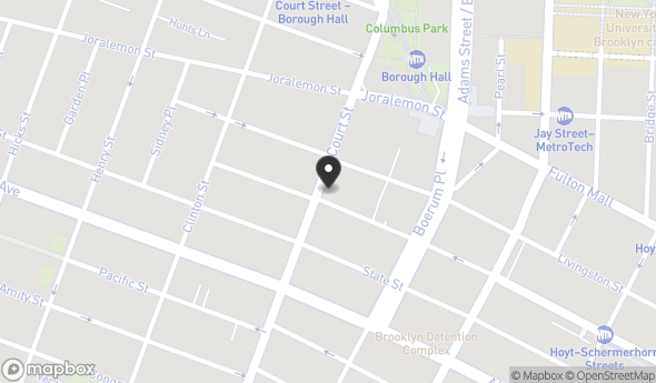 Location of 95 Court St, Brooklyn, NY 11201