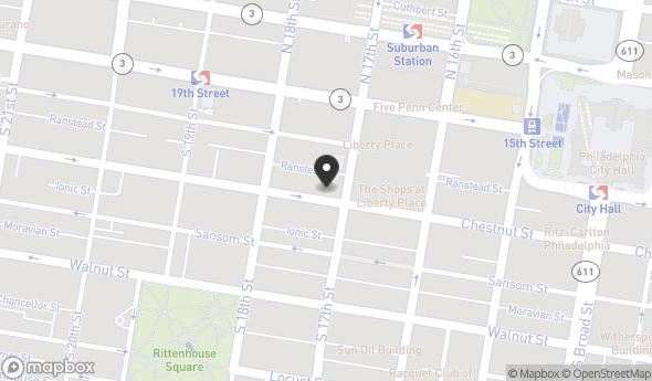 Location of 1733 Chestnut St, Philadelphia, PA 19103
