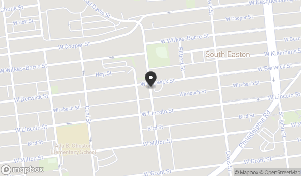 Location of Shull Citizens Center: 401 W Berwick Street, Easton, PA 18042