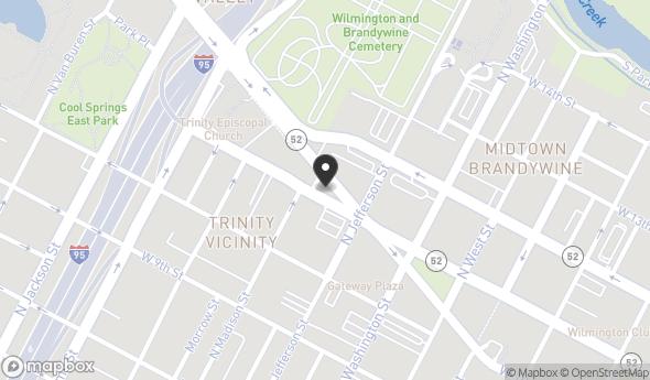 Location of 600 Delaware Ave, Wilmington, DE 19801