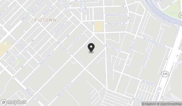 Location of 1100 Wicomico St, Baltimore, MD 21230
