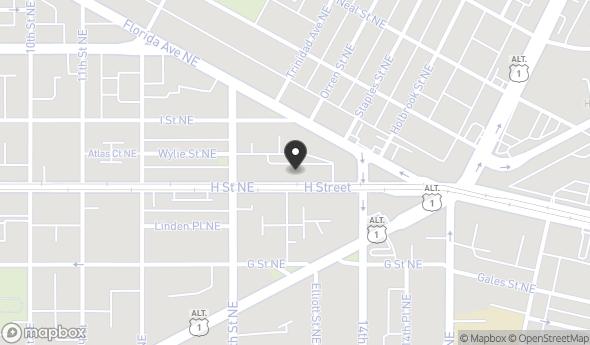 Location of ALDEA: A Co-Living Village: 1336/1338 H Street NE, Washington, DC 20002