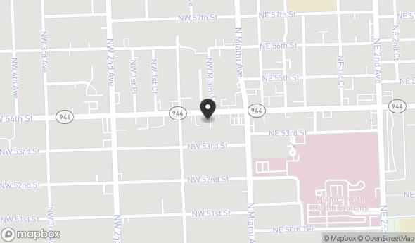 Location of 64 NW 54th St, Miami, FL 33127