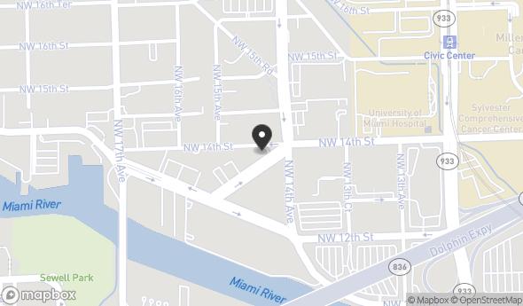 Location of 1415 NW 13th Terrace, Miami, FL 33125
