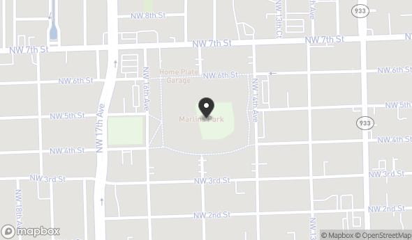 Location of Shops of Marlins Park: 501 Marlins Way, Miami, FL 33125