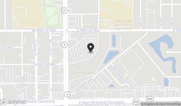 Location of Home Depot Plaza  : 230 N Courtenay Parkway, Merritt Island, FL 32953