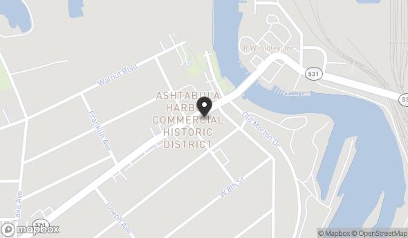 Location of 1026 Bridge St, Ashtabula, OH 44004