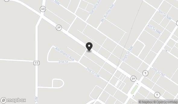 Location of 323 W Main St, Carrollton, OH 44615