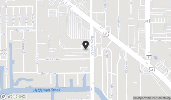 Location of Bayshore Drive Retail plus Development Opportunity: 2740 Bayshore Dr, Naples, FL 34112