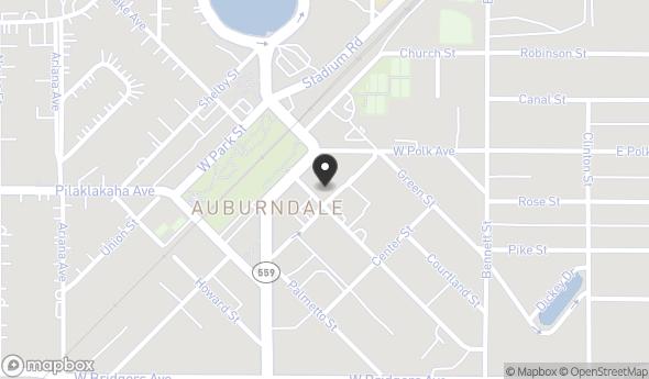 Location of 117 E Lake Ave, Auburndale, FL 33823