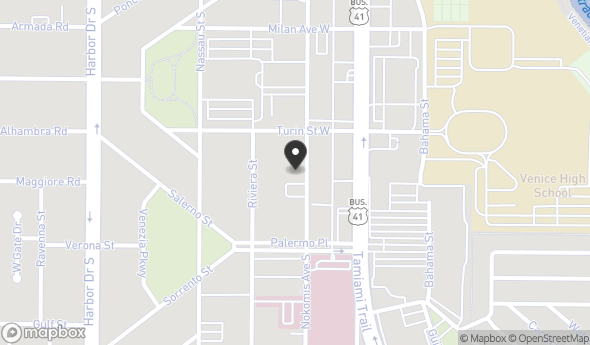 Location of 420 Nokomis Ave S, Venice, FL 34285