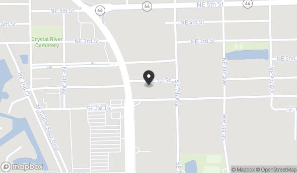 Location of 638 NE 1st St, Crystal River, FL 34429
