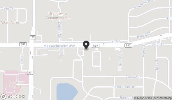 Location of 7216 Massachusetts Ave, New Port Richey, FL 34653