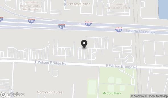Location of 250 E Wilson Bridge Rd, Worthington, OH 43085