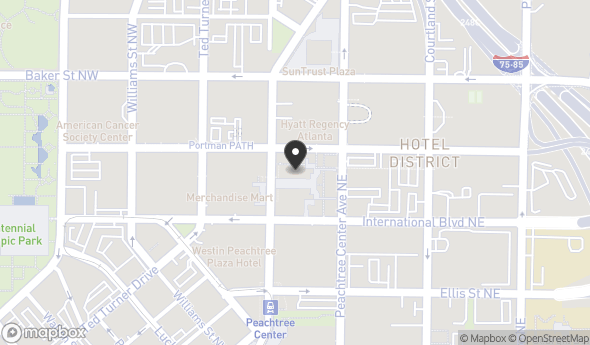 Americasmart Atlanta Map.233 Peachtree St Ne Atlanta Ga 30303 Officespace Com