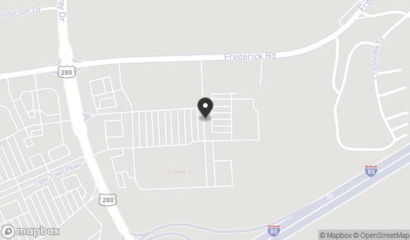 Location of 1640 Parker Way, Opelika, AL 36801