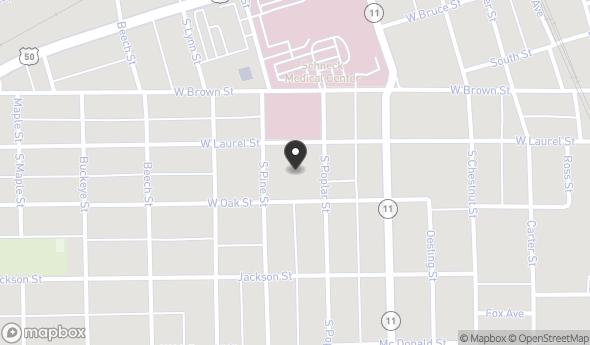 500 South Poplar Street Map View