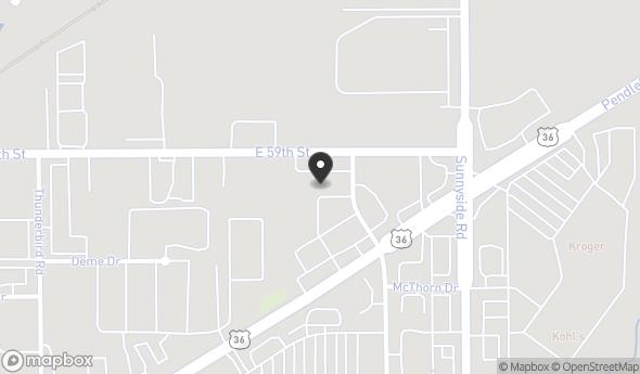 Location of Sunnyside Village Shoppes II: 10830 Pendleton Pike, Indianapolis, IN 46236