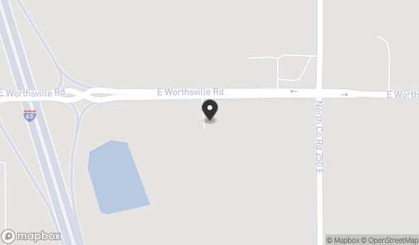 Location of 2341 East Worthsville Road, Whiteland, IN 46184
