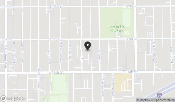 Location of 1102 E 16th St, Indianapolis, IN 46202