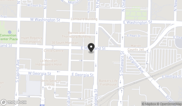 Location of 102 S Pennsylvania St, Indianapolis, IN 46204