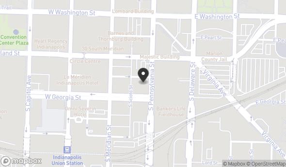 Location of Pennsylvania St & Chesapeake St: Pennsylvania St & Chesapeake St, Indianapolis, IN 46204