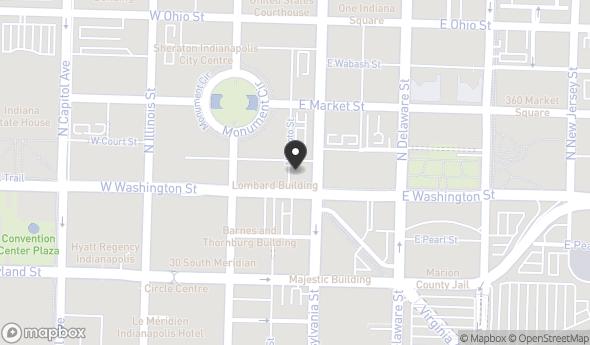 Location of 38 E Washington St, Indianapolis, IN 46204