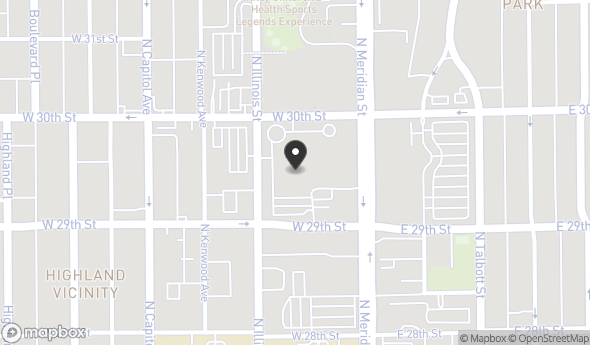 Location of 2960 N Meridian St, Indianapolis, IN 46208