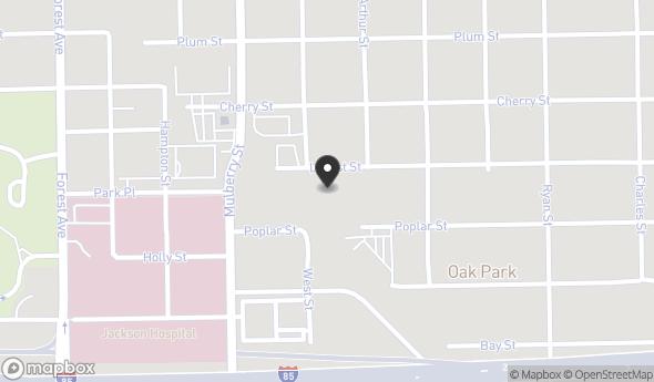 Location of 1910 Locust St, Montgomery, AL 36107
