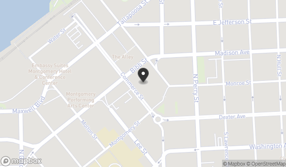 Location of 60 Commerce St, Montgomery, AL 36104