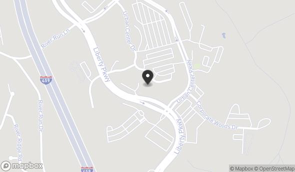 Location of The Urban Center: 1500 Urban Center Dr, Vestavia, AL 35242