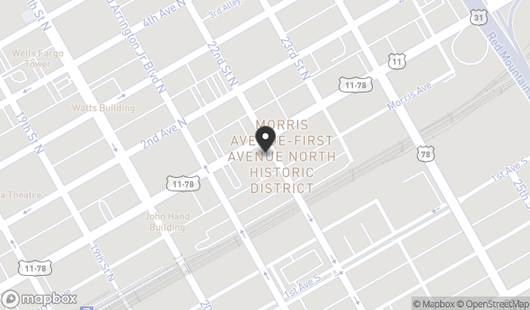 Location of 2129 1st Ave N, Birmingham, AL 35203