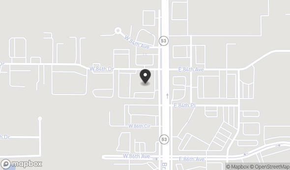 Location of 8450 Broadway, Merrillville, IN 46410