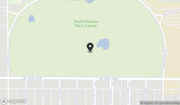 Location of South Gleason Golf Course : 3400 Jefferson St, Gary, IN 46408