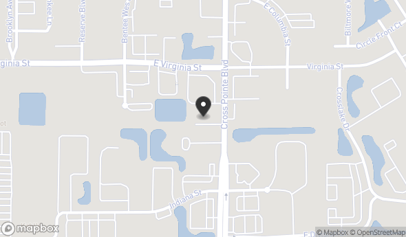 Location of 330 N Cross Pointe Blvd, Evansville, IN 47715