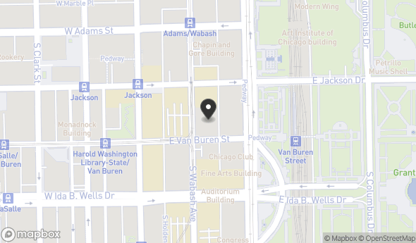 Location of CNA Building : 333 S Wabash Ave, Chicago, IL 60604