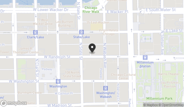Location of 20 East Randolph Street, Chicago, IL 60601