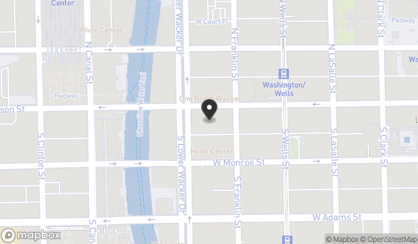 Location of One South Wacker Drive: 1 S Wacker Dr, Chicago, IL 60606