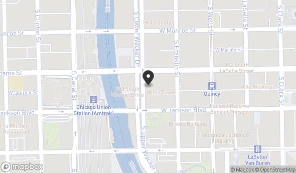 Location of 233 S Wacker Dr, Chicago, IL 60606