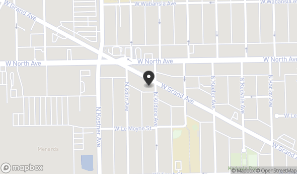 Location of 4301 W Grand Ave, Chicago, IL 60651