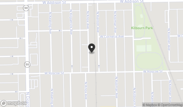 Location of 3433 N Knox Ave, Chicago, IL 60641