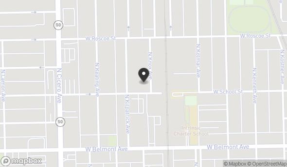 Location of 3306 North Knox Avenue, Chicago, IL 60641