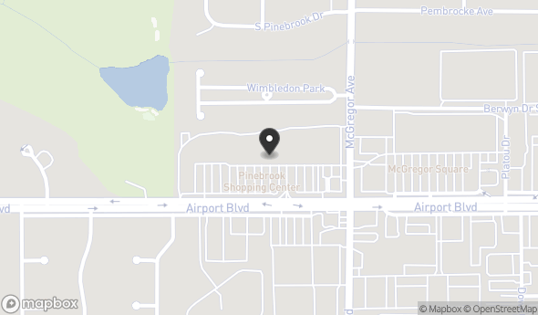 Location of PINEBROOK SHOPPING CENTER: 3964 Airport Blvd, Mobile, AL 36608