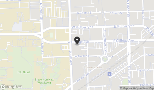 Location of Uptown Crossing: 100 S Fell Ave, Normal, IL 61761